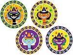Kitty Witch Halloween Plate Set